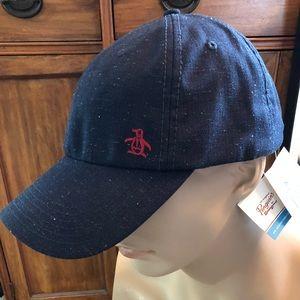 Original Penguin designer blue adjustable hat cap